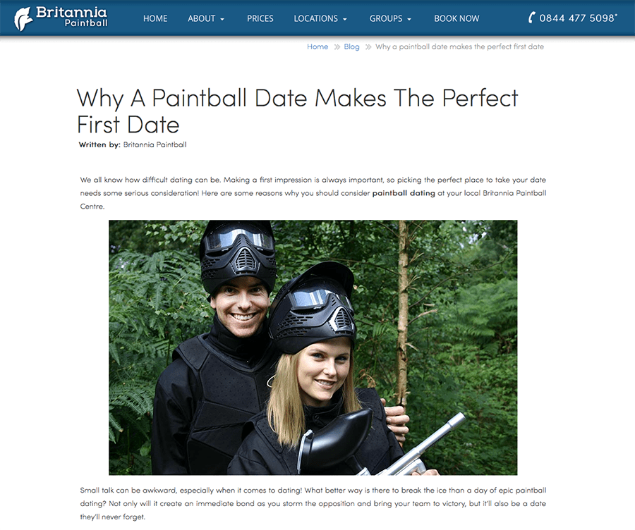 Why A Paintball Date Makes The Perfect First Date